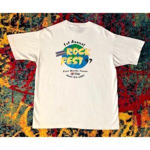Rare Vintage 1997 Blockbuster Rockfest Shirt